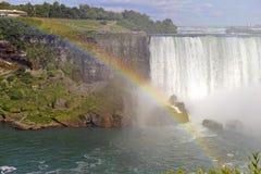 Chutes du Niagara, Canada encadrant et état de New-York Images libres de droits