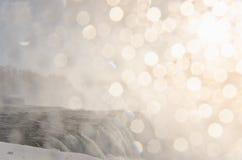 Chutes du Niagara en hiver, Etats-Unis image libre de droits