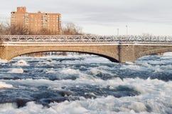 Chutes du Niagara en hiver, Etats-Unis photographie stock