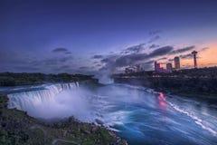 Chutes du Niagara et automnes américains, l'état de New-York, Etats-Unis image stock