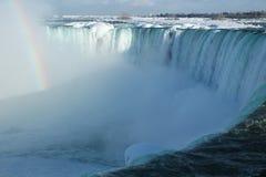 Chutes du Niagara, pendant l'hiver Photographie stock libre de droits