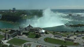 Chutes du Niagara vues d'Ontario banque de vidéos