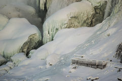 Chutes en hiver Image libre de droits