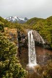Chutes et bâti Ruapehu de Mangawhero Images libres de droits