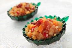 Chutney av äpplen, aprikosar och russin Arkivbilder