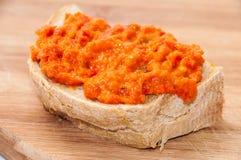 Chutney on bread stock photography