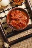 Chutney de Oambal do tomate - um prato de Nagaland. Fotografia de Stock Royalty Free