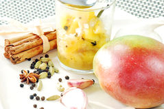 Chutney del mango Fotografie Stock Libere da Diritti