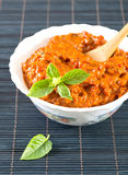Chutney, a delicious roasted red pepper Royalty Free Stock Photography