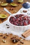 Chutney et épices faits maison de prune Photographie stock libre de droits