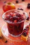 chutney jabłczany cranberry Fotografia Royalty Free