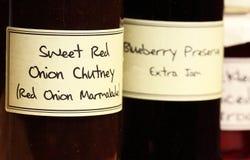 Chutney in kruik Stock Foto