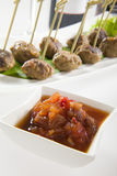 Chutney with Meat Balls Royalty Free Stock Image