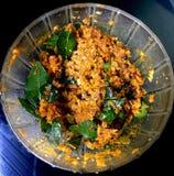 Chutney picante do coco de Kerala fotos de stock