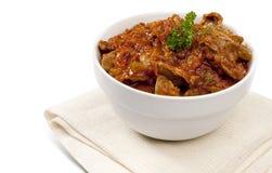 Chutney sudafricano tradizionale del ventriglio del pollo Fotografia Stock Libera da Diritti