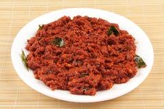 Chutney vermelho das pimentas doces Fotografia de Stock