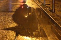 Chuva da noite Imagens de Stock