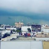 Chuva da nuvem fotografia de stock