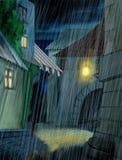 Chuva de derramamento ilustração do vetor