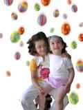 Chuva de Easter white_vertical imagens de stock royalty free