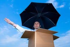 Chuva de espera Imagem de Stock Royalty Free