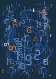Chuva de números digitais Fotos de Stock
