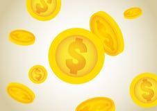Chuva de queda do dinheiro Foto de Stock Royalty Free