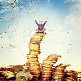 Chuva do dinheiro Imagens de Stock Royalty Free