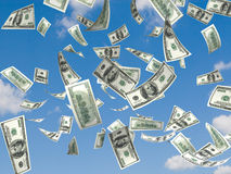 Chuva do dinheiro foto de stock royalty free