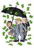 Chuva do dinheiro ilustração royalty free