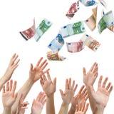 Chuva do dinheiro Foto de Stock