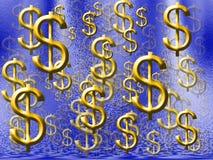 Chuva do dinheiro Fotografia de Stock