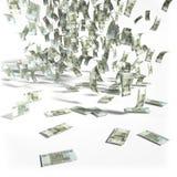 Chuva do dinheiro de 50 rublos de contas Fotos de Stock Royalty Free