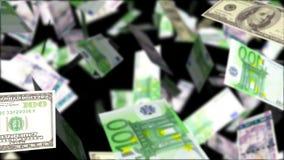 Chuva do dinheiro Fundo loopable abstrato ilustração stock