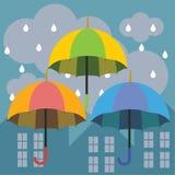 Chuva do guarda-chuva Foto de Stock Royalty Free