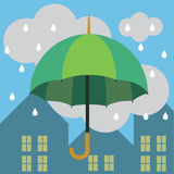 Chuva do guarda-chuva Fotografia de Stock Royalty Free