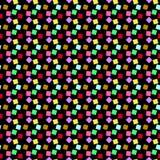 Chuva do teste padrão de grões coloridas do açúcar Fotografia de Stock Royalty Free