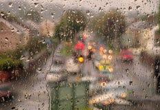 Chuva do Windowpane fotos de stock
