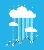 Chuva dos dados, tráfego de dados Imagem de Stock
