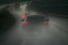 Chuva e estrada Fotos de Stock