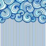 Chuva e nuvens abstratas do wirh do fundo Imagens de Stock Royalty Free