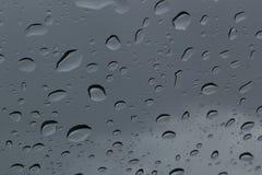 Chuva em uma janela Imagens de Stock Royalty Free