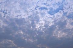 A chuva está vindo logo Céu e Cloudscape fotografia de stock