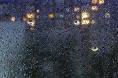 Chuva na noite Foto de Stock