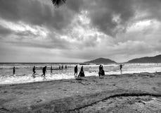 Chuva na praia do Palolem de Goa Imagens de Stock