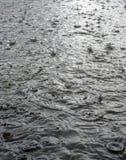 Chuva na rua em detalhe Imagens de Stock
