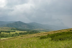 Chuva nas montanhas Foto de Stock Royalty Free