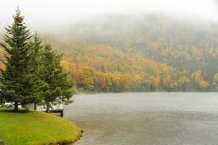 Chuva no lago Gloriette Foto de Stock Royalty Free
