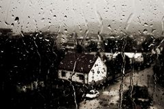 Chuva pesada fotografia de stock