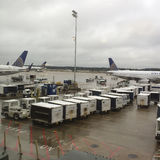 Chuva pesada em George Bush Intercontinental Airport imagens de stock royalty free